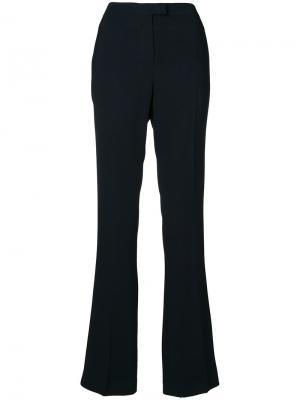 Расклешенные брюки с завышенной талией Les Copains. Цвет: черный