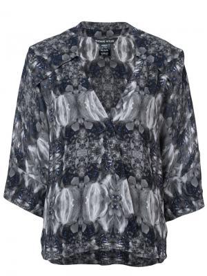 Блузка с принтом Thomas Wylde. Цвет: серый