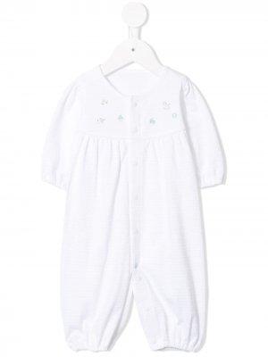 Комбинезон для новорожденного с вышивкой Familiar. Цвет: белый
