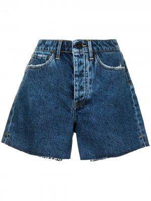 Джинсовые шорты бойфренды 3x1. Цвет: синий