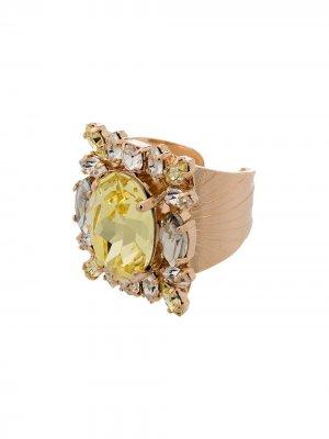 Кольцо с кристаллами Anton Heunis. Цвет: желтый