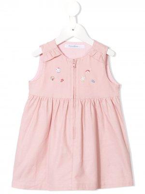 Платье с вышивкой Familiar. Цвет: розовый