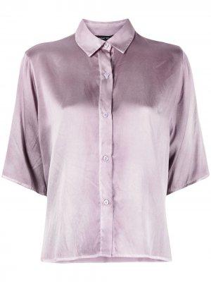 Рубашка с заостренным воротником и короткими рукавами Avant Toi. Цвет: фиолетовый