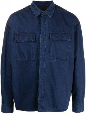 Джинсовая рубашка с нагрудным карманом Juun.J. Цвет: синий