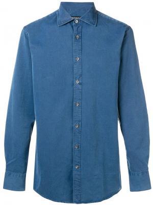 Рубашка на пуговицах Tiger Of Sweden. Цвет: синий