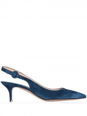 Туфли Anna 55 с ремешком на пятке Gianvito Rossi. Цвет: синий