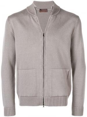 Zipped cardigan Altea. Цвет: серый