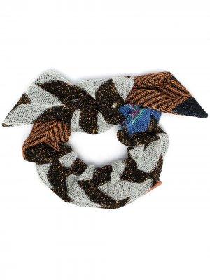 Резинка для волос с узором зигзаг Missoni. Цвет: серый