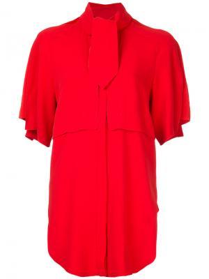 Рубашка с завязкой на бант Antonio Berardi. Цвет: красный
