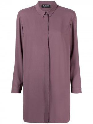 Приталенная рубашка с длинными рукавами Gianluca Capannolo. Цвет: фиолетовый
