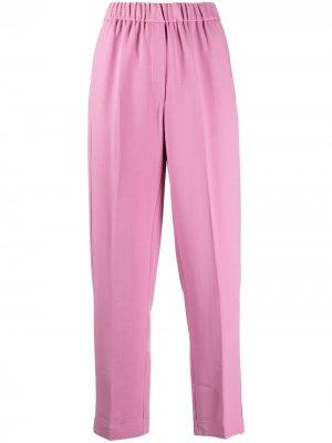 Укороченные прямые брюки Forte. Цвет: розовый