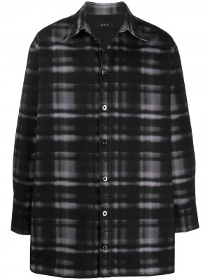 Джинсовая куртка оверсайз с принтом Qasimi. Цвет: черный