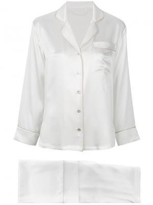 Пижама с контрастной окантовкой Fleur Of England. Цвет: белый