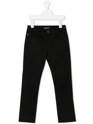 Straight-leg jeans Emporio Armani Kids. Цвет: черный