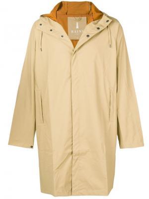 Waterproof hooded coat Rains. Цвет: нейтральные цвета