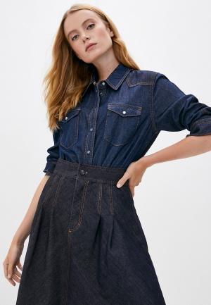 Рубашка джинсовая Escada Sport. Цвет: синий