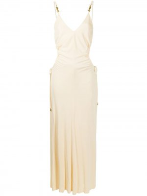 Платье-комбинация с вырезами Manning Cartell. Цвет: оранжевый