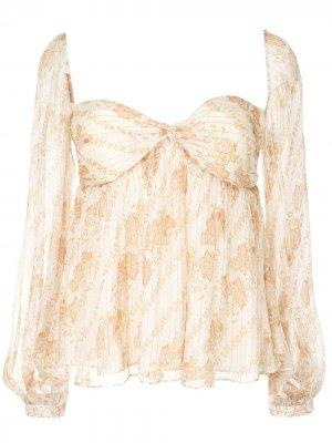 Блузка Celestia с бюстье We Are Kindred. Цвет: белый