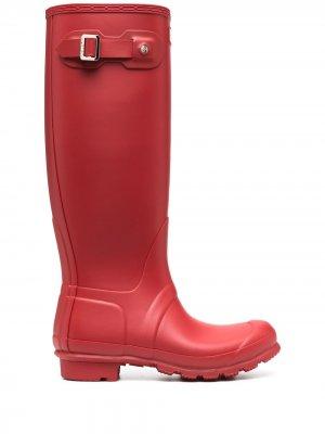 Резиновые сапоги Original Tall Hunter. Цвет: красный