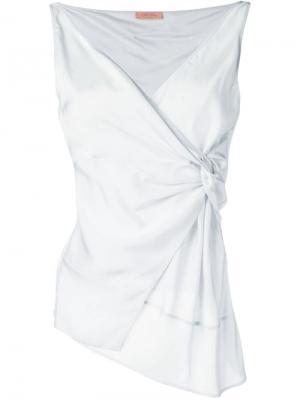 Knot detail blouse Drome. Цвет: белый