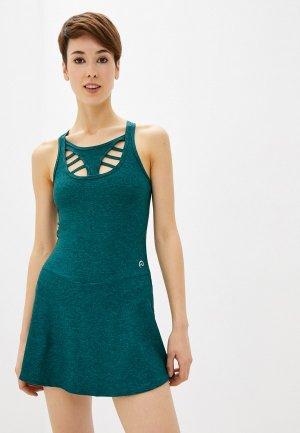 Платье Nativos. Цвет: зеленый