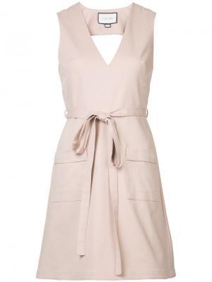 Платье с перекрещивающимися лямками на спинке Alexis. Цвет: розовый и фиолетовый