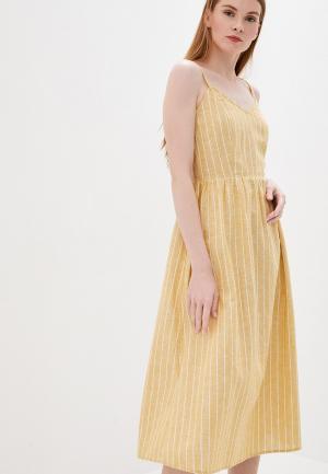 Сарафан Only. Цвет: желтый