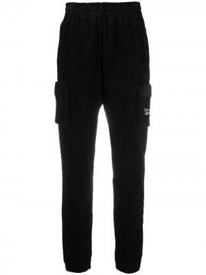 Вельветовые спортивные брюки Reebok. Цвет: черный