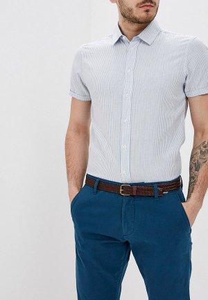 Рубашка Blend. Цвет: голубой