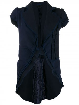 Жакет 1990-х годов с оборками и короткими рукавами Comme Des Garçons Pre-Owned. Цвет: синий