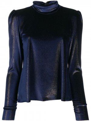 Блузка из шенилла Forte. Цвет: синий