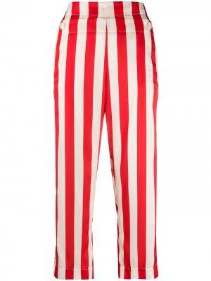 Укороченные брюки в полоску Jejia. Цвет: красный