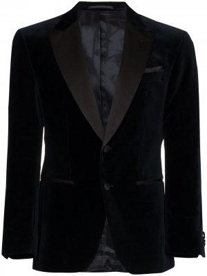 Пиджак с заостренными лацканами BOSS. Цвет: синий