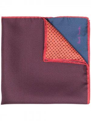 Платок в стиле колор-блок Paul Smith. Цвет: розовый