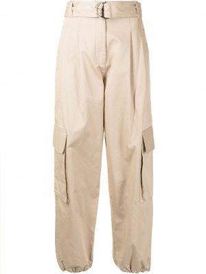 Зауженные брюки карго Lee Mathews. Цвет: коричневый
