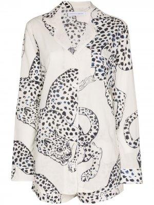 Пижама  Jag с принтом Desmond & Dempsey. Цвет: белый