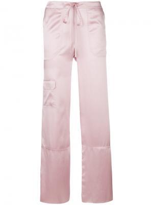 Пижамные брюки с завышенной талией Marques'almeida. Цвет: розовый