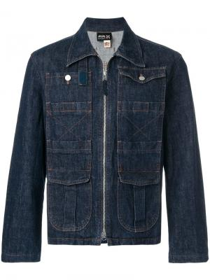 Джинсовая куртка на молнии Jean Paul Gaultier Vintage. Цвет: синий