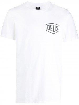 Футболка с логотипом Deus Ex Machina. Цвет: белый
