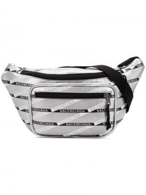Explorer belt pack Balenciaga. Цвет: серебряный