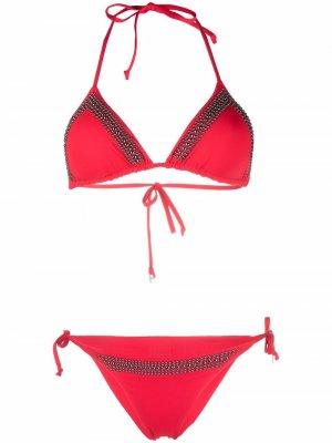 Декорированное бикини Fisico. Цвет: красный