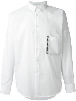 Рубашка с нагрудным карманом Lucio Vanotti. Цвет: белый