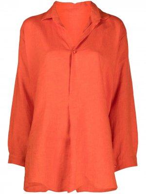 Рубашка с асимметричным подолом Daniela Gregis. Цвет: оранжевый