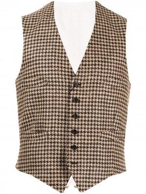 Жакет в ломаную клетку Polo Ralph Lauren. Цвет: коричневый