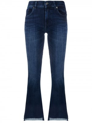 Укороченные джинсы bootcut 7 For All Mankind. Цвет: синий