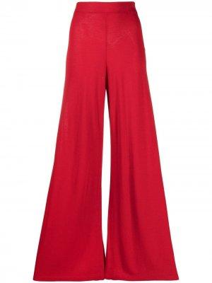 Расклешенные брюки P.A.R.O.S.H.. Цвет: красный