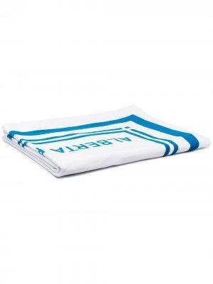 Пляжное полотенце с логотипом Alberta Ferretti. Цвет: белый