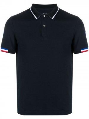 Рубашка поло с отделкой в рубчик Colmar. Цвет: синий