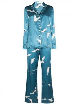 Пижама Lila Bird Olivia von Halle. Цвет: синий