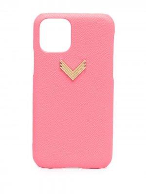 Чехол для iPhone 11 Pro с логотипом Manokhi. Цвет: розовый
